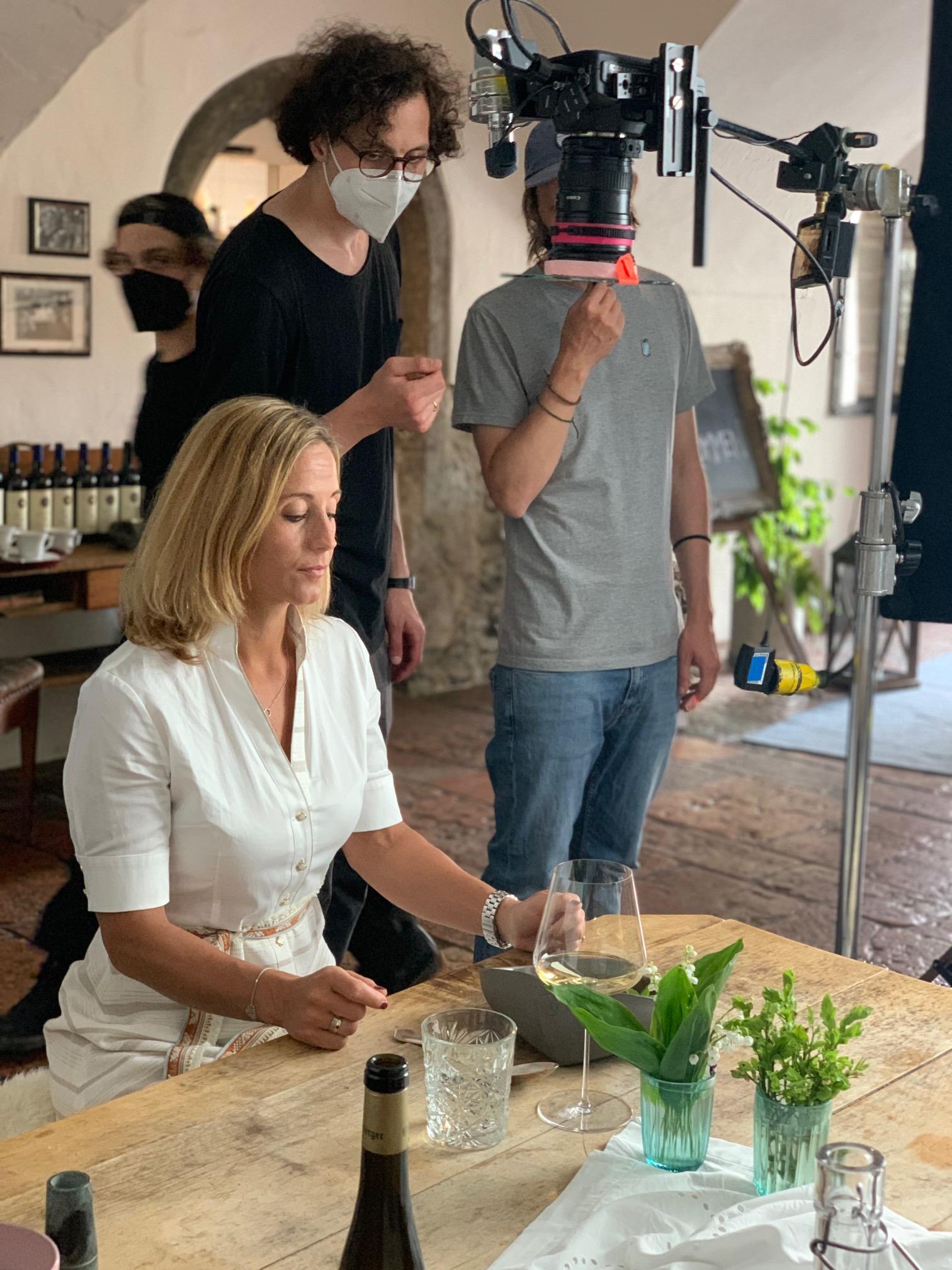 TV Produktionsaufnahmen mit Michaela Kirchgasser